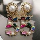 Fashion Earrings Elegant Number 5 Colorful Drop Earrings New Trendy Earrings for Women