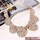 New Trend Fashion Necklaces Fake Collar Necklace Sequined Golden Collar for Girls Womens Necklaces