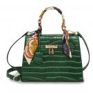 Green Embossed Handbags