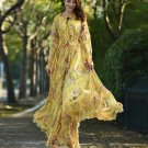 Newest Beautiful Yellow Maxi Dress Ankle Length Breezy Summer Outfit