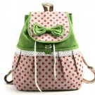 Girls Knapsacks Green Backpacks Polka Dots Campus Backpacks for Teenage Girls Satchel Bags