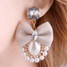 RSS Boutique FREE SHIPPING Ivory Bow Earrings Fashion Pearl Drop Earrings for Women