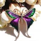 Minimalist Purple Brooch Butterfly Pattern Purple Butterflies Pin Clothes Brooches for Women