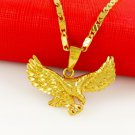 New Thick American Eagle Necklace 24K Gold Plated Eagle Necklace and Pendant