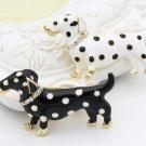 Black Dog Brooch for Women Pins and Brooch Dalmatian Dog Breed Polka Dots