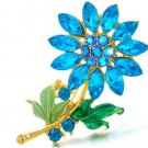 Low Prices Glowing Blue Brooch Party Blue Souvenirs for Friend Free Shipping Wedding Brooch