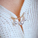 RSS Boutique Pearl Brooch Anti-Slip Modest Women Brooch Breast Cover for Deep V-Neckline
