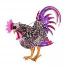Purple Chicken Brooch Funny & Silly Bling Brooch for Fun Mother's Day Gift