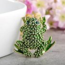 Free Shipping Green Frog Brooch for Women Favorite Frog Theme Gift