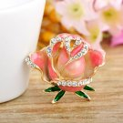 Peach Roses Beautiful Collection Rose Brooch Wedding Prom Special Occasion Pink Brooch