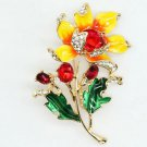 RSS Boutique Bright Yellow Sunflower Pins Yellow Brooch Floral Brooch for Summer