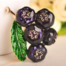 Bountiful Blue Berry Fruits Brooch and Pins Purple Berries Pins and Brooches for Men and Women