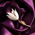 2Pcs Tulip Flowers Elegant Bridal Brooch Wedding Pins White Brooch for Women