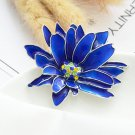 Royal Blue Brooch and Pins for Men and Women Wedding Anniversary Gift Blue Enamel Jewelry
