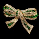 Elegant and Chic Style Golden Brooch New Austrian Brooch Golden Bows for Women