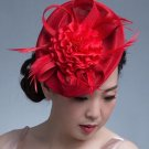 RSS Boutique Free Shipping Be-You-T-Full Red Pillbox Princess Kate's Fascinator