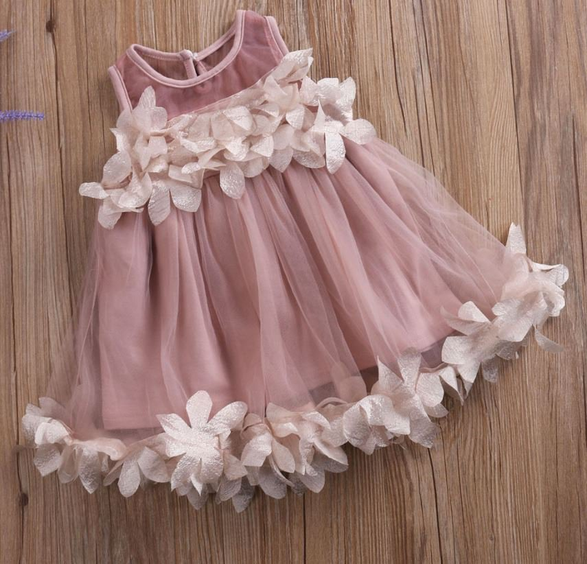 Purple Dress for Baby Girls Casual Formal Wear Spring Dress for Baby Girls