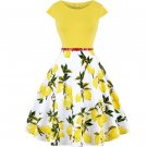 New Lemon Prints Yellow Dress for Women Yellow Dresses for Spring Season
