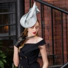 Fancy Fine Collections of Gray Fascinators for Elegant Ladies Luxury Type Silver Hats