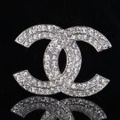 READY FOR SHIPPING Silver CC Brooches for Your Love Ones High Quality Letter CC Monogram Brooches