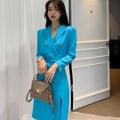 SALE! Free CC Brooch for Turquoise Trench Coat for Women Turquoise Blue Coats for Office Work