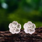 Lotus Flower Real 925 Sterling Silver Earrings Natural Crystal Gems Fine Jewelry for Women