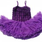 Free Shipping Baby Props with Matching Floral Headband Ready to Ship Purple Dress