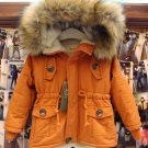 Free Shipping Winter Jackets FREE Winter Hat for Orange Coats Hooded Jackets for Junior Boys