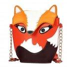 Small Orange Bags for Your Phone Holder-Fox Face Purse Lipstick Phone Handbag for Women