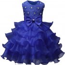 Tiered Royal Blue Dress Royal Blue Tutu Dress for Girls Sleeveless Royal Blue Dress for Flower Girls