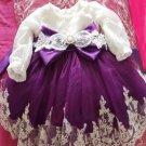SALE! Purple Formal Wear for Baby Girls Beautiful Luxury Flower Girls Dress Ballgown Dress for Girls