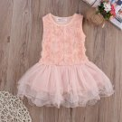 SALE! 3 Dollars Clothing for Girls Pink Dress Summer Sleeveless Dress Ruffled Pink Tutu  Dress