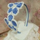 Rudelynssarisaristore.com Free Shipping Blue Headband Crochet By Lyn Floral Headbands with Teeth