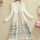 Floral Kimono Maxi Kimono White Cardigan for Women Sheer White Kimono Dresses