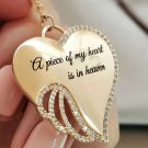 A Piece of My Heart is in Heaven Angel Necklace Memory Necklaces for Women