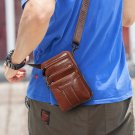 Brown Phone Bags for Men Unisex Bags Free Shipping Brown Leather Leisure Bags for Men
