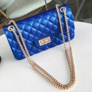 New Royal Blue Shoulder Bags for Women with Golden Chain Small Phone Bags Bags FREE CC BROOCHE