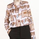 On Hand Blouses for Women Printed Horses Trojan Horses Prints Cowgirl Tops for Women