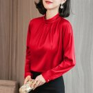 RudelynsSariSariStore.com Pretty Red Blouses for Women On Hand Red Tops Mandarin Collar
