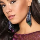 Shine Sequins Tassel Earrings Drop Exaggerated Colorful Geometric Earrings Folding Earrings