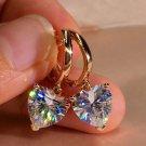 Womens Accessory to Beauty Heart Shape Earrings for Women Sparkling Golden Heart