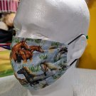 3pcs Large Size Facemasks for Men 1pc Printed Horses Cowboy Masks 2ps Solid