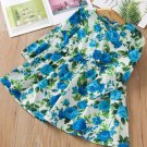 RudelynsSariSariStore.com Blue Dress for Girls Spring Summer Dress Printed Roses