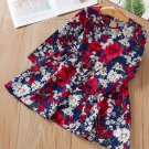 RudelynsSariSariStore.com Navy Blue Dress for Toddler Girls Dresses Printed Poppies