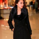 Ready to Ship Black Overcoats wit Fur Collar FREE Black CC Brooch On Hand Items