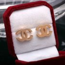 SALE! Limited CC Beautiful Golden Earrings for Women Engraved C H A N E L Ready for Shipping