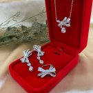 FREE CC Brooch for Luxury Jewelry Set for Wedding High Grade AAA Zirconia 925 Sterling Silver