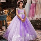 Pretty Lavander Color Dress for Tween Girls Quinceañera Party Dress-Birthday Girls Dresses