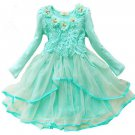 Rsslyn Green Dress for Toddler Girls Long Sleeve Formal Dress Spring Dresses with Free Headband