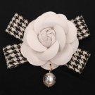 Rsslyn White Rose Brooch Lapel Pins